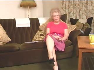 delightful unshaved old granny fingering intro