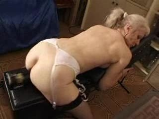french shaved blond granny pt115