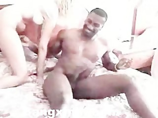aged lady engulfing and fucking dark boy