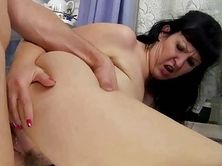 breasty chubby grandma fucking with young lad