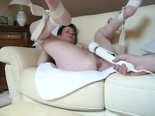 nasty cutie getting vibrated in smutty cleft