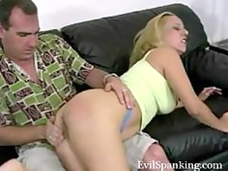 amateur drubbing his golden-haired wicked wife
