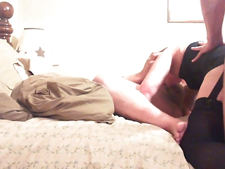 fat chap and slut wife play with stranger
