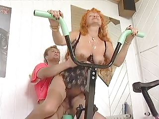 redhead older workout love