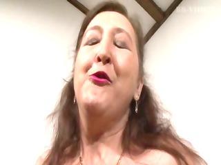 pierced granny in bisexual trio
