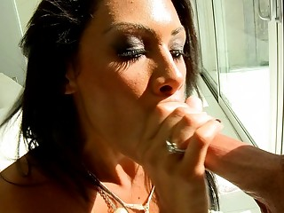 stylish brunette d like to fuck gives excellent