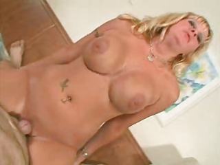 large titted mature gets a mouthful