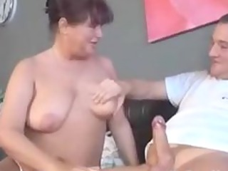 german granny with tatoo sucks and bonks mature
