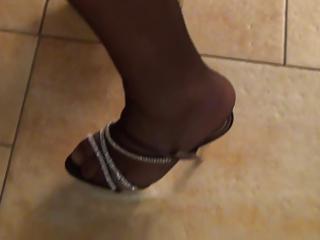 cum in nylon, shoejob high heels my wife