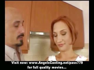 amateur amazing redhead hawt wife talking with