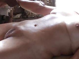 mature massage on ideal camel toe cum-hole -