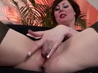 aged european hottie in nylons gets screwed and