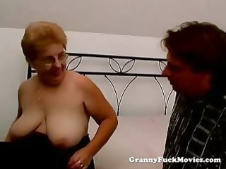 a corpulent granny has sex
