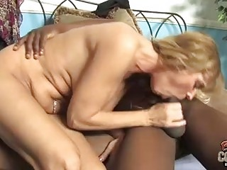 blond momma with large happysacks sucking big