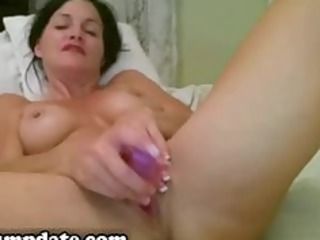 excited mother i toying her pussy on web camera