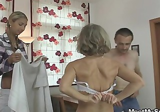 she is is lured into oral threesome by his parents