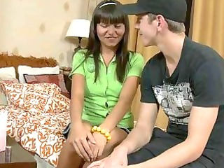 perverted teen worships mature schlong