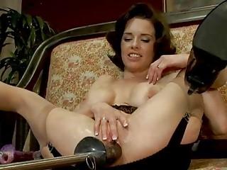 mature beauty explores fucking machines
