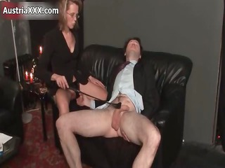 messy mature wench goes eager spanking