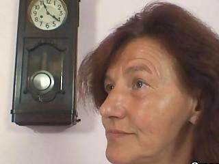 sewing granny takes her customer shlong