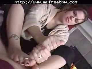 corpulent wife handjob footjob big beautiful