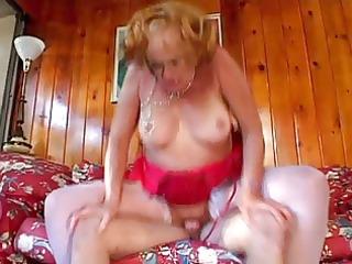 very horny granny seduces young lad
