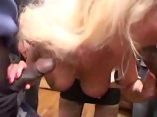 sylvie, mature team-fucked by blacks cocks