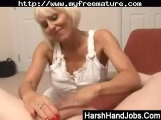 jan burton gives a harsh tugjob older mature porn