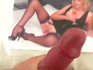 tribute to a sexy milf with hawt nylon legs