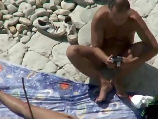 mom and daddy fuck on a public beach