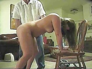 hubby spanks wife