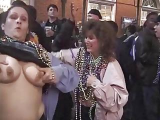 beauties flashing and dancing in public