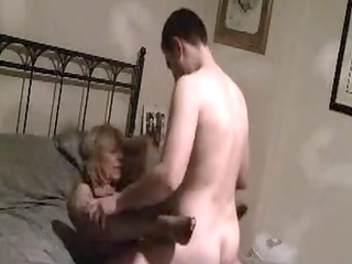 aged mamma fucked on secret video scene by