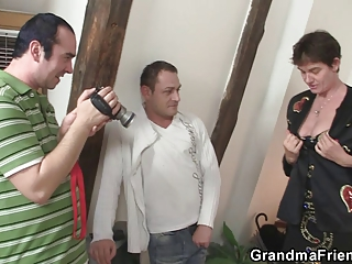 nasty granny acquires lured into threesome