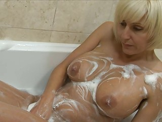 playful blond d like to fuck with big bosom plays