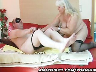 chunky dilettante wife sucks and copulates on her