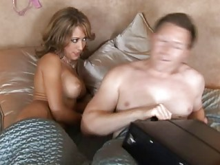 marvelous horny golden-haired wife with large