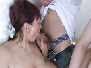 klavdia russian mom &; 8 youthful guys