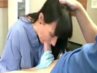 nurse milf is engulfing her patients wang and
