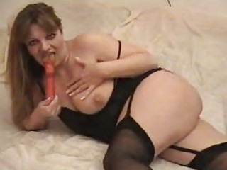 fantastic mother i slut toys her cunny in