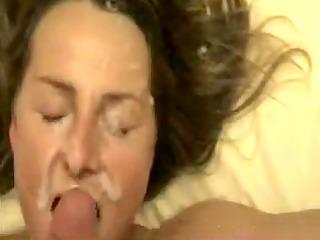 wifey gets a huge cum splash porno