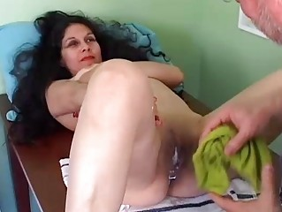 nice-looking mature latina receives her vagina