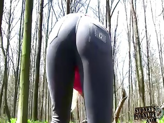 hot golden-haired babe with a fine ass copulates