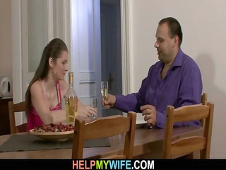 he is brought pizza and drilled his young wife
