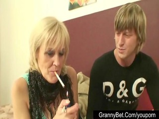 youthful chaps fucking old prostitute