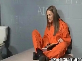 prison milf hiding things in her cum-hole