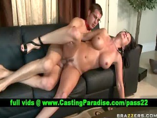 breasty brunette milf gets drilled and cumshoot