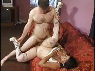 black haired milf goes with the dark guy