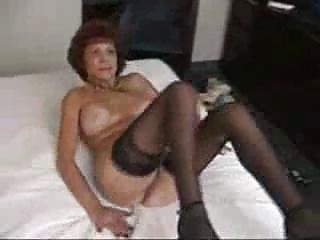 busty grandma sucks and bonks