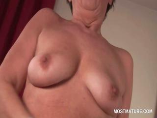 naked bitchy older masturbating her unshaved